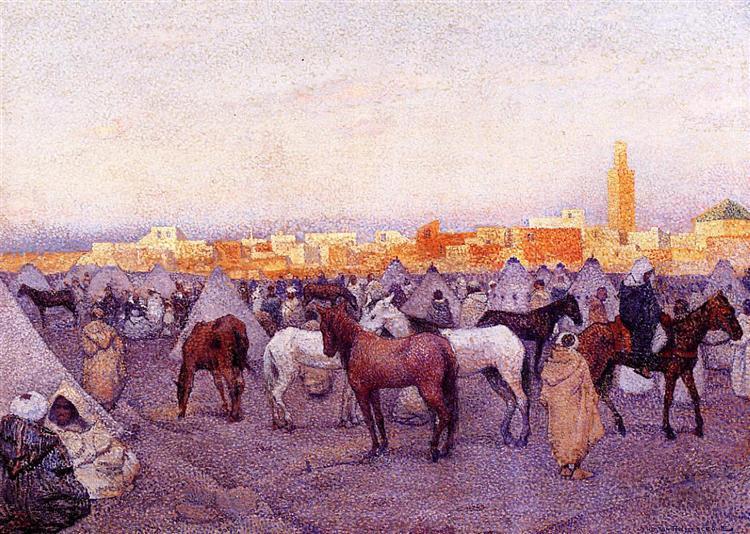 Encampment near a Moroccan Village, 1888 - Theo van Rysselberghe