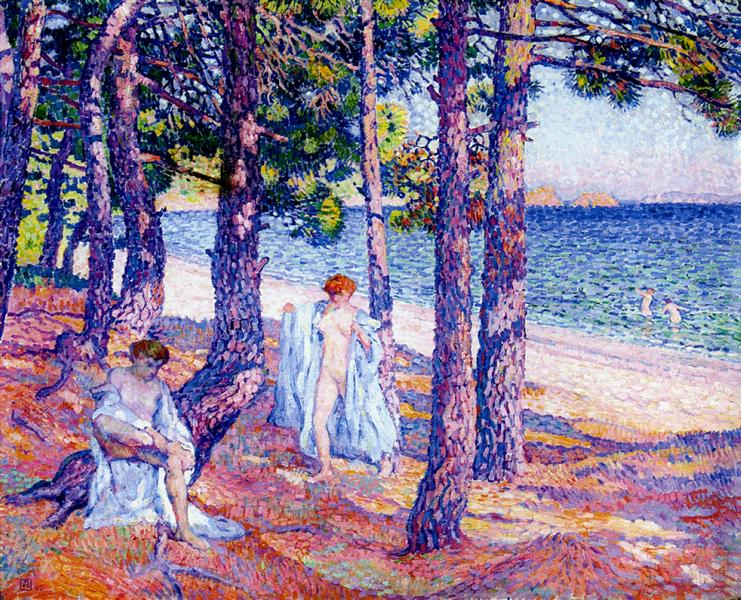 Female Bathers Under the Pines at Cavaliere, 1905 - Theo van Rysselberghe