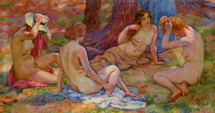 Four Bathers - Theo van Rysselberghe