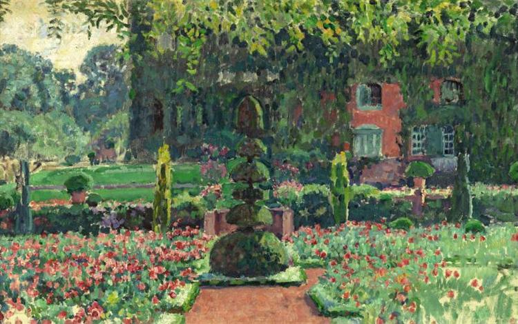 Garden in summer, 1924 - Théo van Rysselberghe