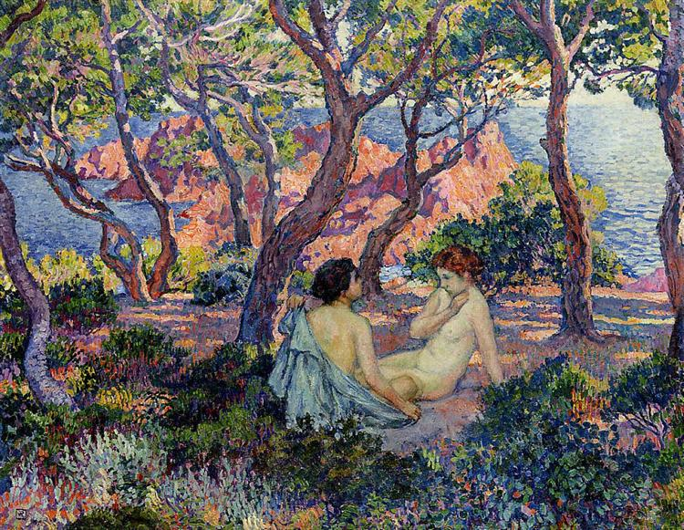 In the Shade of the Pines, 1905 - Тео ван Рейссельберге