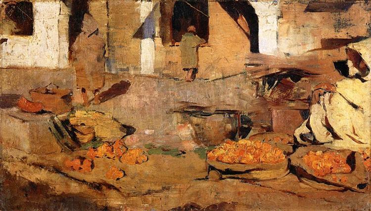 Moroccan Fruit Market, c.1883 - Theo van Rysselberghe