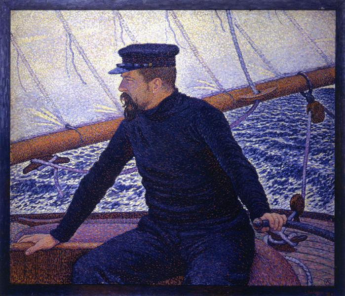 Paul Signac at the Helm of Olympia, 1896 - Theo van Rysselberghe
