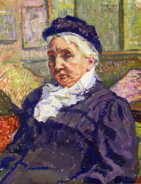 Portrait of Madame Monnon, 1908 - Theo van Rysselberghe