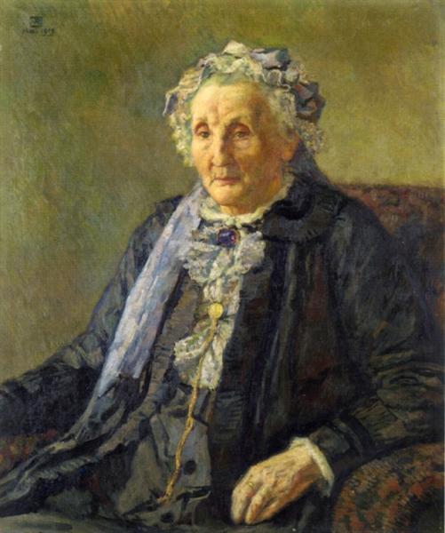 Portrait of Madame Monnon, 1919 - Theo van Rysselberghe