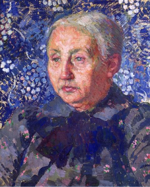 Portrait of Madame Monnon, the Artist s Mother in Law, 1900 - Theo van Rysselberghe
