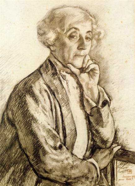 Portrait of Maria van Rysselberghe, 1919 - Theo van Rysselberghe