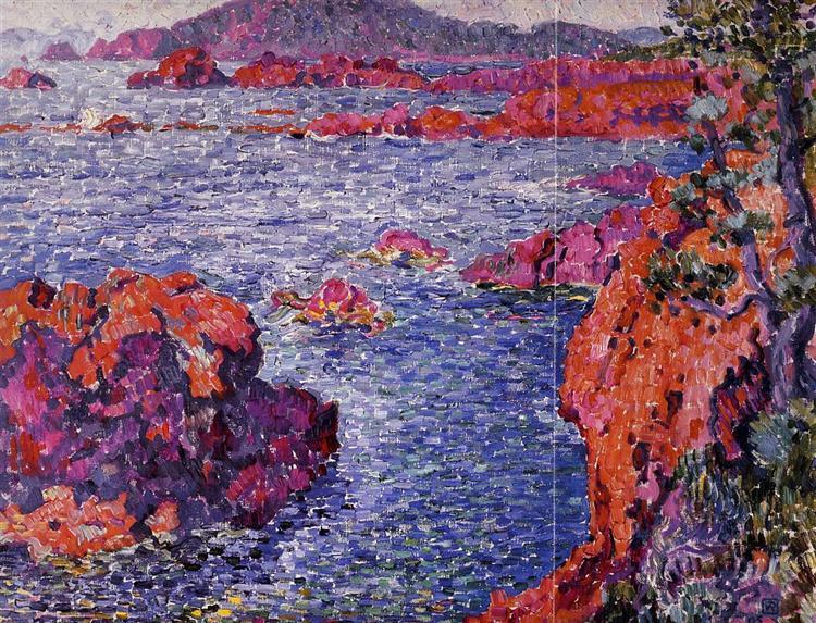 Rocks at Antheor, 1906 - Theo van Rysselberghe
