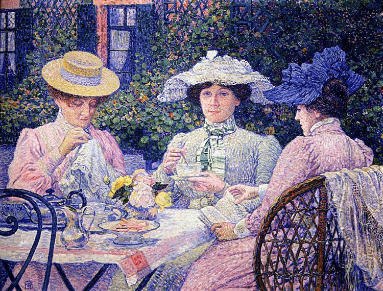 Summer Afternoon (Tea in the Garden), 1901 - Theo van Rysselberghe