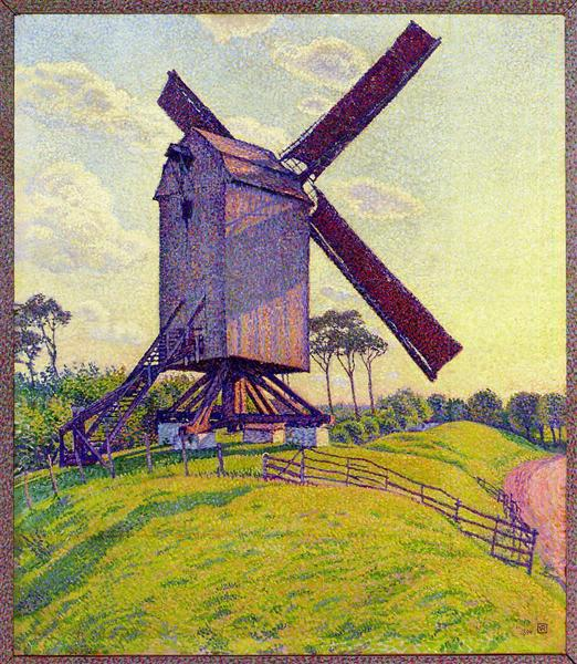 The Mill at Kelf, 1894 - Théo van Rysselberghe