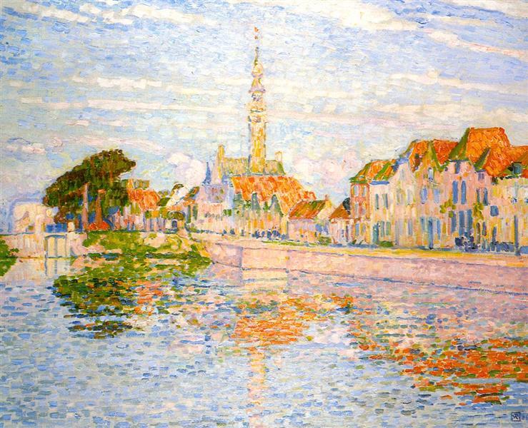 The Quay at Verre, Zeeland, 1906 - Theo van Rysselberghe
