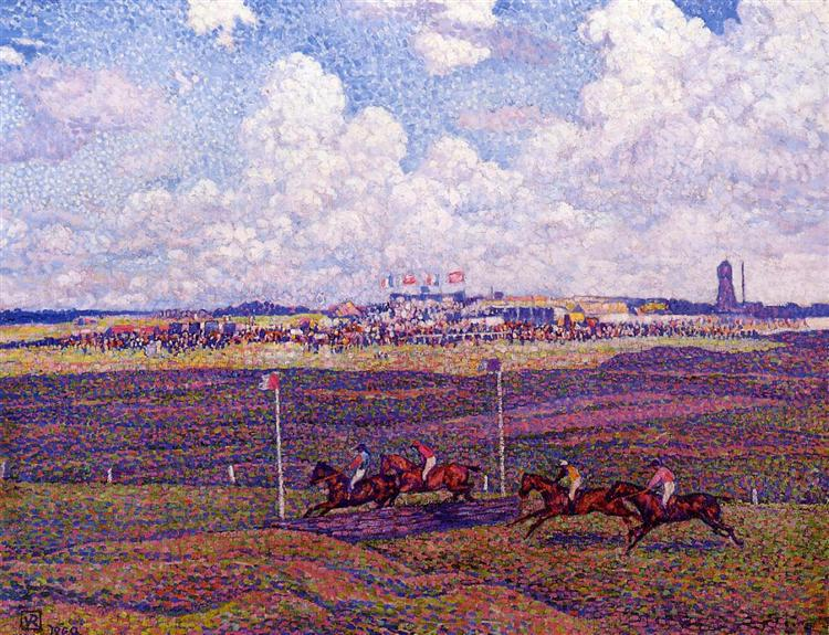 The Race Track at Boulogne sur Mer, 1900 - Тео ван Рейссельберге