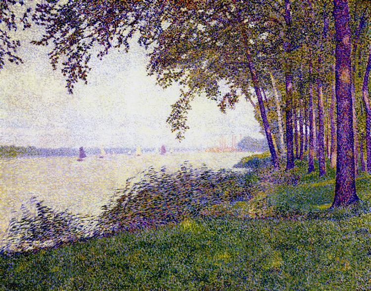The Schelde Upstream from Antwerp After Fog, 1892 - Theo van Rysselberghe