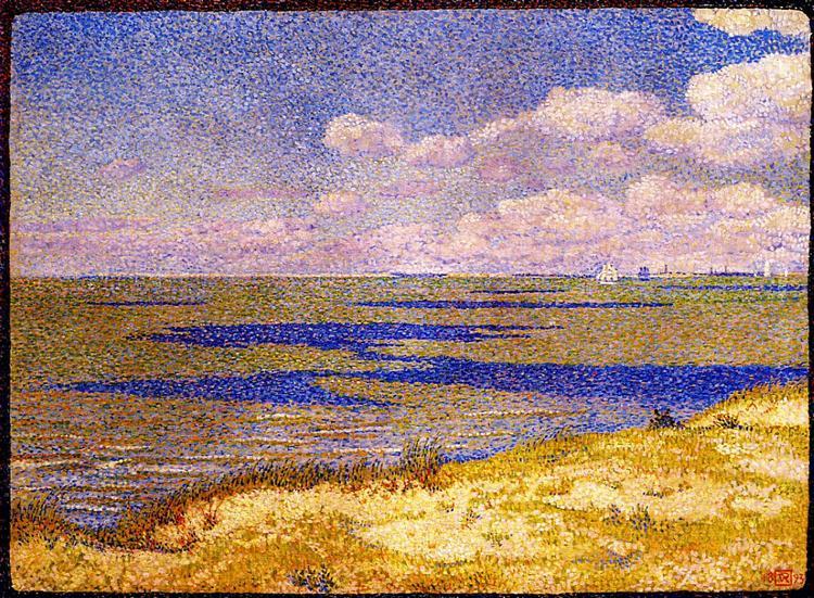 View of the River Scheldt, 1893 - Theo van Rysselberghe