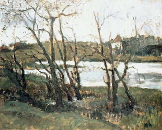 Landscape with Lake - Theodor Pallady