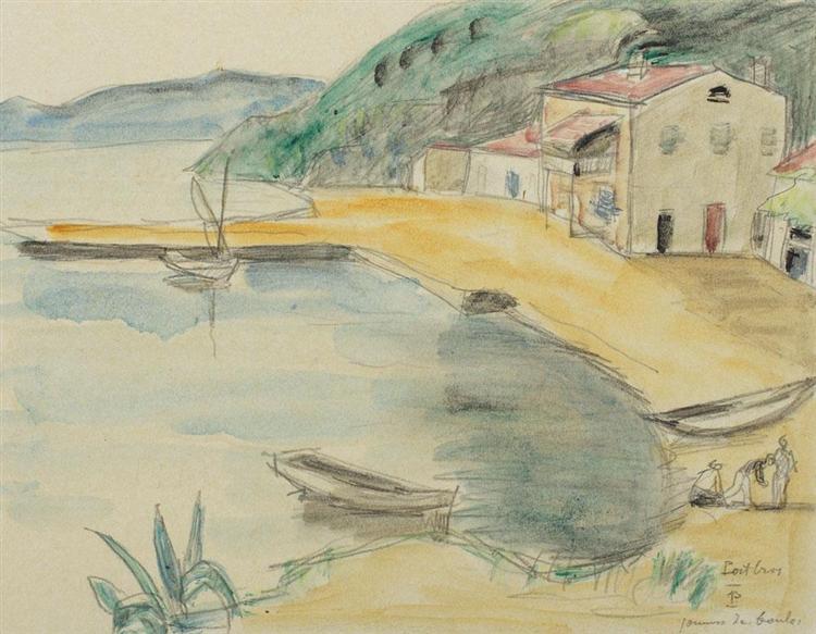 Scenă de port (Jeux de boules) - Theodor Pallady