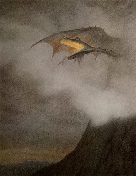 Dragon Awakens - Theodor Severin Kittelsen