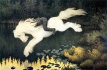 Gutt Paa Hvit Hest - Theodor Severin Kittelsen