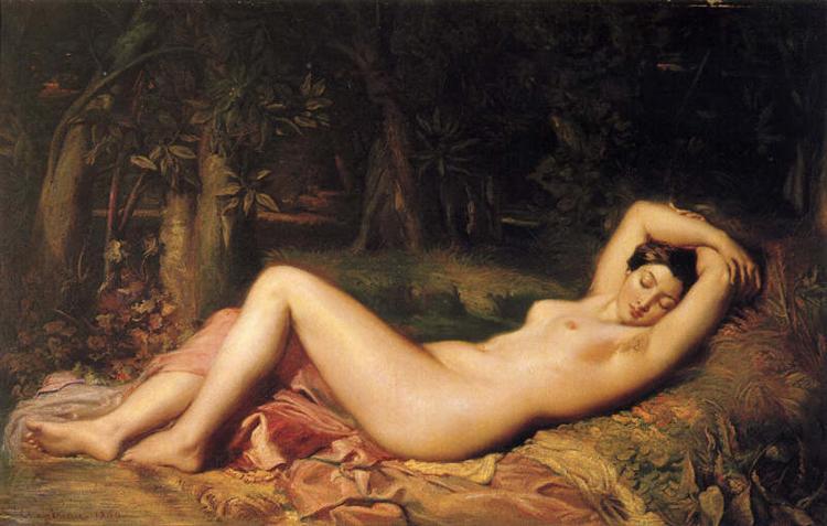 Baigneuse endormie, 1850 - Theodore Chasseriau