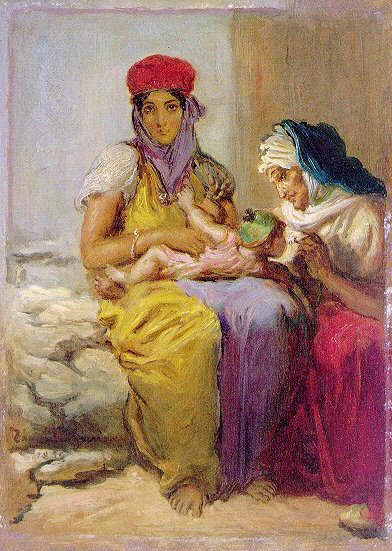 Young Moorish Woman Nursing Her Child, 1850 - Theodore Chasseriau