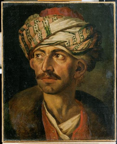 Head of an Oriental, or Portrait Presumed to be Mustapha, 1819 - 1821 - Théodore Géricault