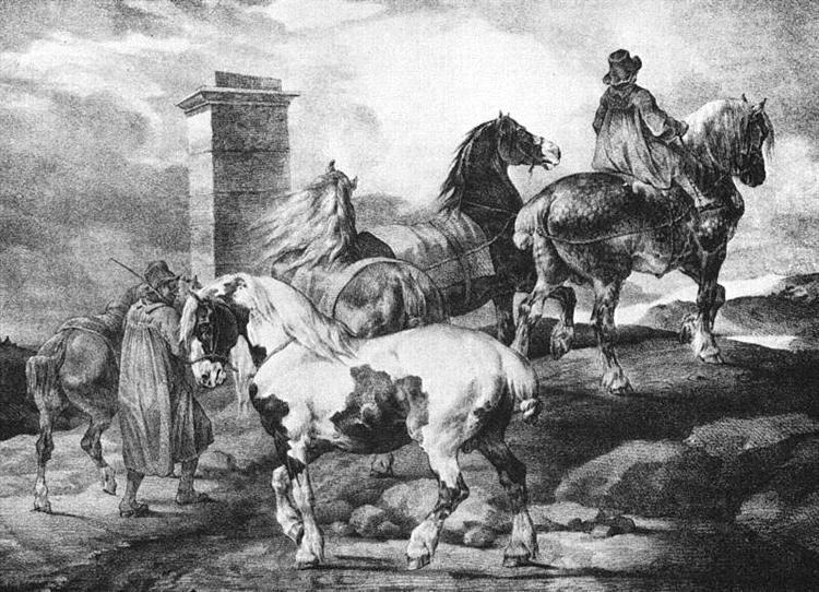 Horses, 1821 - Théodore Géricault