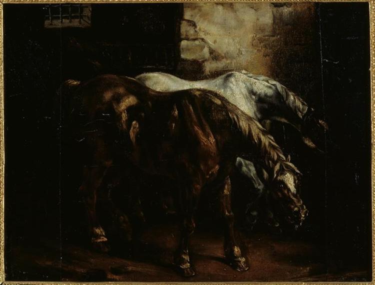 Twopost-horses - Théodore Géricault