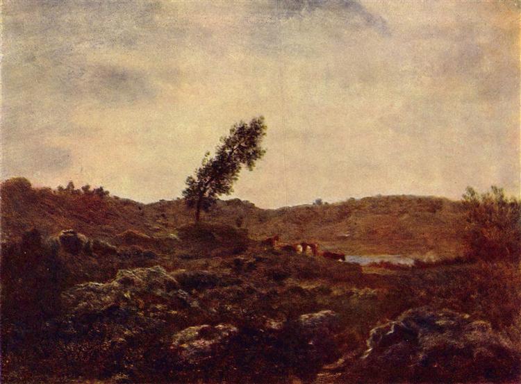 LookatBarbizon, c.1850 - Théodore Rousseau