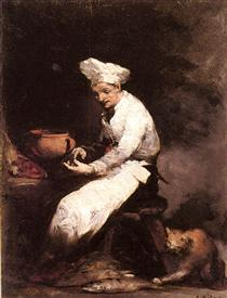 The cook and the cat - Theodule Ribot