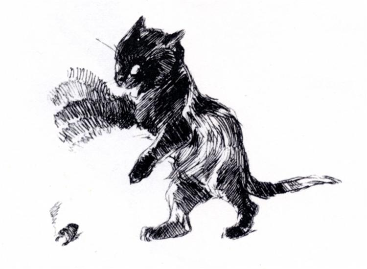 Cat's paw in blurring motion, 1898 - Theophile Steinlen