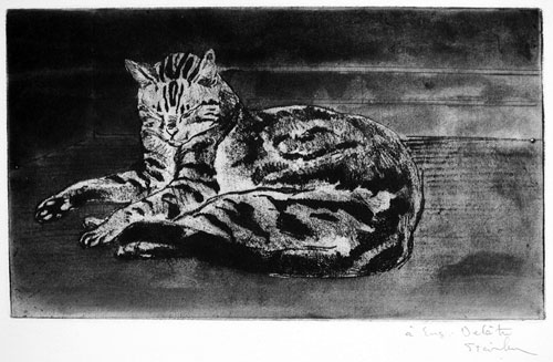 Chat On The Floor, 1902 - Theophile Steinlen