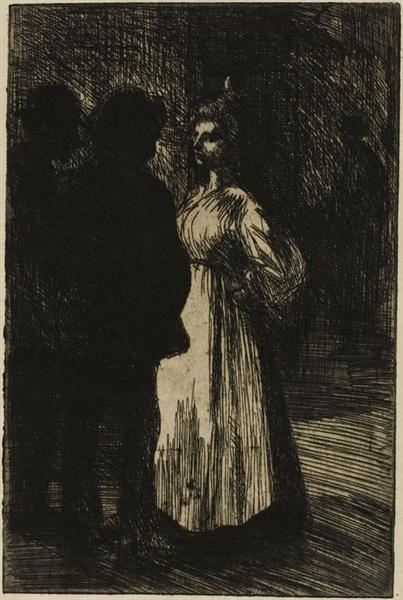 Colloque Nocturne, 1898 - Theophile Steinlen