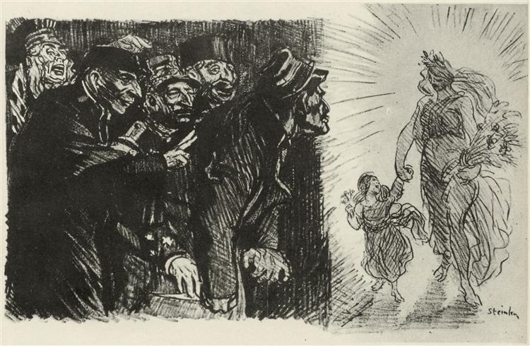 Comme En Quatre-Vingt Treize, 1901 - Theophile Steinlen