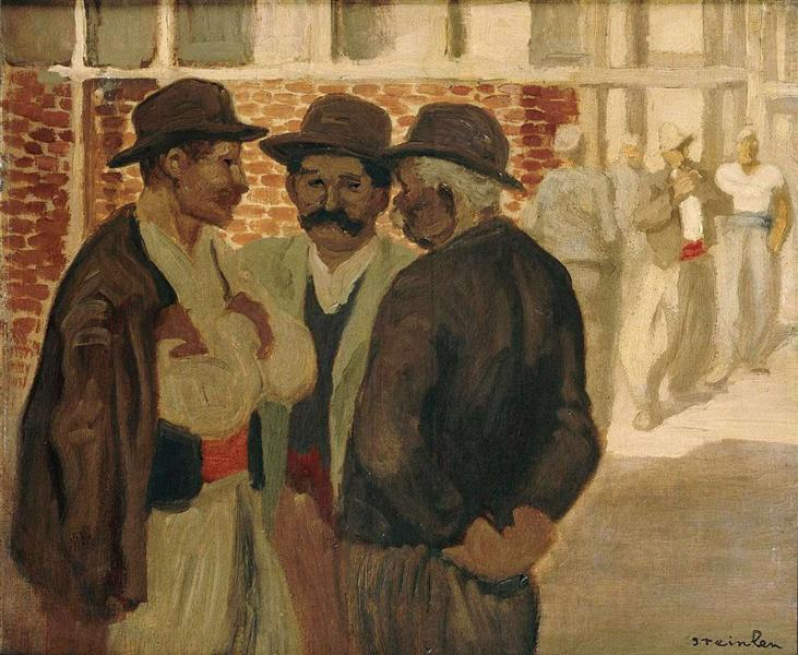 Construction workers - Theophile Steinlen