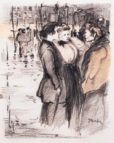 Craneuse  - Original drawing - Théophile Alexandre Steinlen