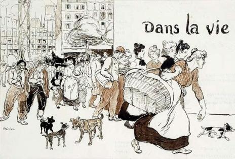 Dans La Vie, 1901 - Theophile Steinlen