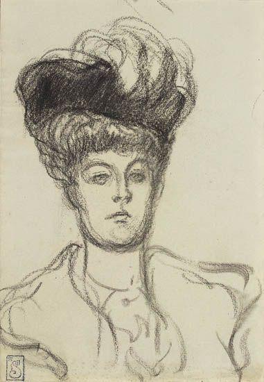 Femme au Chapeau - Theophile Steinlen