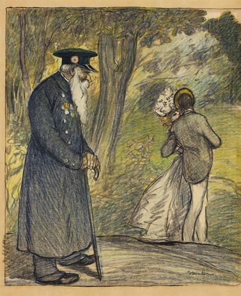 L'Amour Au Vert - Theophile Steinlen