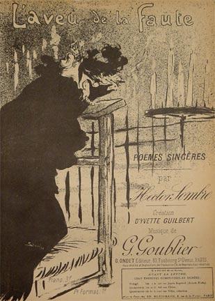 L'Aveu de la Faute, 1894 - Theophile Steinlen