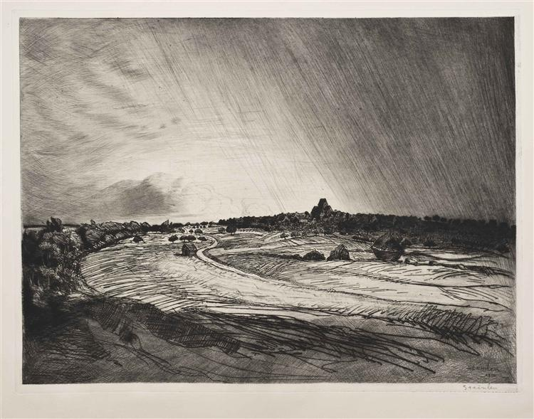 The Storm, 1914 - Theophile Steinlen