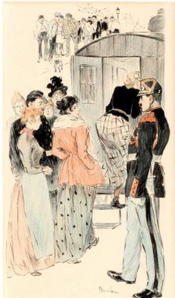 La Rafle, 1894 - Theophile Steinlen