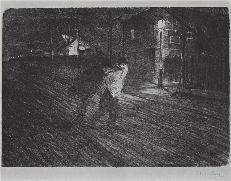 La Rue Caulaincourt, 1896 - Theophile Steinlen