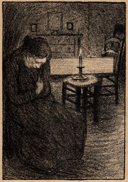 La Veillee, 1907 - Theophile Steinlen