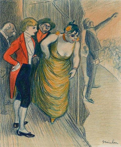 Le Cafe Concert - Theophile Steinlen