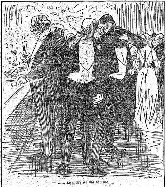 Le mari de ma femme, 1891 - Theophile Steinlen