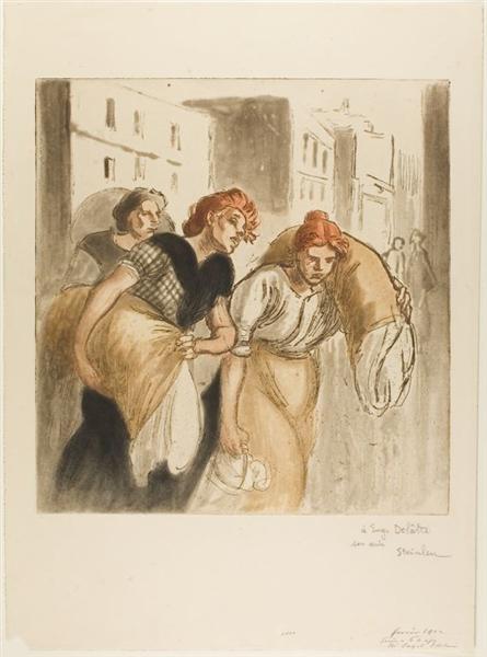 Le Retour du Lavoir, 1912 - Theophile Steinlen