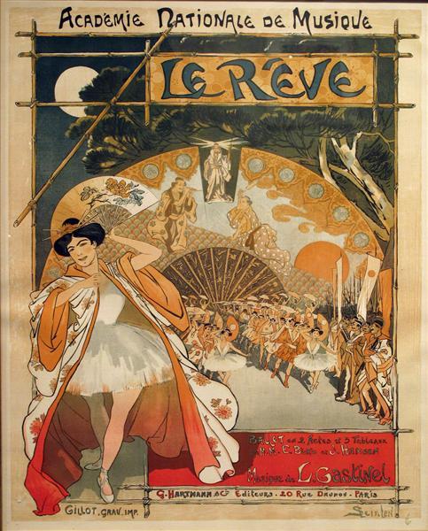 Le Reve, 1890 - Theophile Steinlen