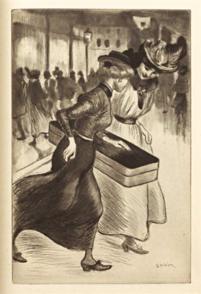 Les Deux Trottins, 1902 - Theophile Steinlen
