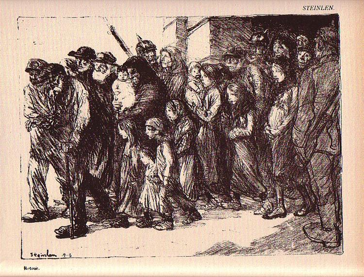 Les Otages Civils, 1915 - Théophile-Alexandre Steinlen