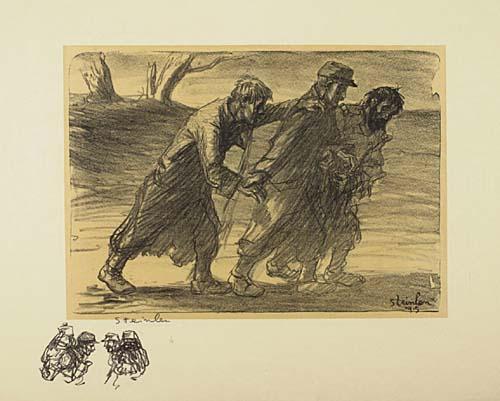 Les Trois Compagnons, 1915 - Theophile Steinlen